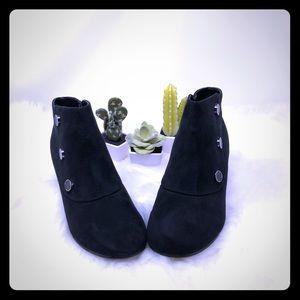 Ladies Faux Suede Black Booties - Size 8 - NWOB